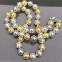 8-8.5mm naturales de agua de mar perla gargantilla collar multicolor Akoya collar de perlas clásico moda mujer joyería