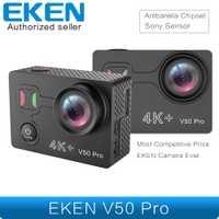 Más EKEN V50 Pro Cámara de Acción Chipset Ambarella Sensor de Sony 4 K 30FPS de cámara WiFi impermeable Mini deportes Cámara
