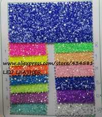 90x132 cm Pieles sintéticas Faux cuero Telas cuero brillo cristal grano Telas color brillo para Costura DIY p303