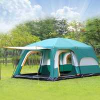 Tienda de campaña grande 10 12 personas a prueba de agua doble capa 2 salas de estar y 1 Salón tiendas familiares camping al aire libre gran gazebo