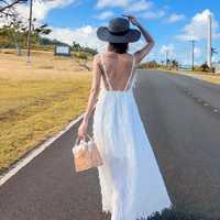Mujer Bohemia, Vestido de playa blanca de la cubierta-ups túnicas Sarong Beach larga sol ropa fresca