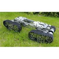 Aleación Metal tanque chasis Tractor Crawler Balance tanque chasis RC tanque montaje camión Robot chasis Arduino Coche