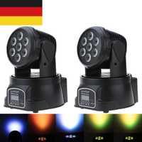 Nueva llegada RGBW LED de la etapa de luz en movimiento la cabeza haz fiesta DMX-512 Led Dj de Navidad sonido activo DMX Disco luz