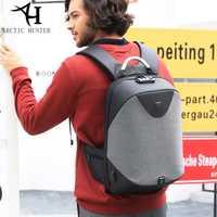 Ártico cazador de hombres mochila para portátil de gran capacidad bolso para hombres de negocios de moda TSA aduanas Cerradura Anti-robo de 208