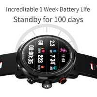 L5 inteligente reloj de los hombres IP68 impermeable de 100 días múltiples deportes de modo de vigilancia pronóstico del tiempo Smartwatch