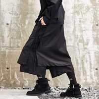 Hombres Japón estilo Kimono pantalones moda masculina Casual Harem pantalones etapa desgaste pierna ancha Falda pantalón Punk Hip Hop ropa trajes