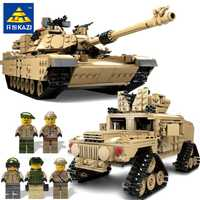 KAZI nuevo tema tanque bloques de construcción 1463 unids bloques de construcción M1A2 ABRAMS MBT KY10000 1 Cambio 2 tanque de juguete modelos de juguetes para los niños