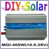 ¡Sistema solar 2017 Nuevo! DC10.5 ~ 28 V MGI 400 W inversor de la rejilla para Panel Solar 18 V/36 células inversor de onda sinusoidal pura 400 W
