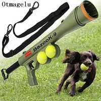 Perro divertido juguete tenis bolas lanzamiento pistola para AK47 entrenamiento del animal doméstico remoto juguete velocidad agilidad equipo juguetes interactivos del perro mascota suministros