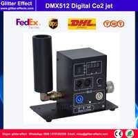 DMX512 digital tubería Co2 jet DJ discoteca Noche de teatro bar club equipo de escenario, cyro máquina de niebla