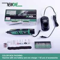 Newone 12 V hogar DIY herramienta giratoria Dremel portátil batería Liuthium taladro eléctrico con accesorios herramientas eléctricas multifuncionales
