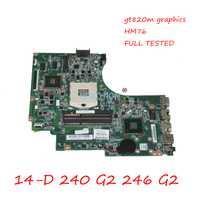 NOKOTION 747263-001 747263-501 para HP Compaq 14-D 240 G2 246 G2 placa base de computadora portátil 820 m gráficos HM76