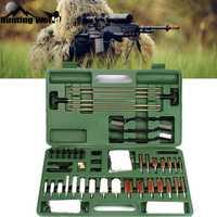 Kit de limpieza de Rifle de pistola táctica 62 piezas de pistola de disparo juego de limpiador de pistola con cepillo de cobre de algodón caja de transporte para caza