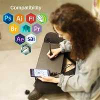 HUION HS610 tablettes de dessin graphique numérique sans batterie stylo tablette Android téléphone tablette avec inclinaison OTG pour Windows Mac OS