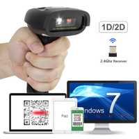 NT-1228W inalámbrico 2D QR escáner de código de barras y NT-1228BC Bluetooth CCD lector y NT-1228 cable USB 2D escáner para el pago móvil