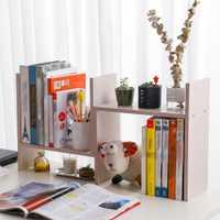 De escritorio madera estantería ajustable escritorio Rack de almacenamiento de estante de libro casa soporte de oficina librería estante de exhibición DQ9152-2/-3