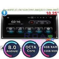 Puente Android 8,0 reproductor Multimedia para BMW X5 M5 E39 1995-2003 E53 (2000-2007) stereo Radio navegación GPS 2 Din NO DVD