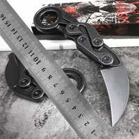 Cuchillo karambit 60-61HRC M390 polvo de acero de alta calidad de camping al aire libre EDC herramienta de supervivencia cuchillo plegable cuchillo de bolsillo cuchillo del regalo