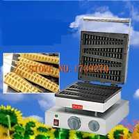De acero inoxidable 4 rayas Waffle maker Lolly Waffle maker 1750W comercial Waffle maíz máquina de pino de la máquina de hacer