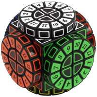 Máquina del tiempo cubo mágico creativo recuerdo edición juguete del rompecabezas-Negro