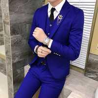 Multi Color Selection chaquetas de traje de hombre de banquete de boda de negocios chaqueta de traje de hombre Slim Fit hombres abrigos 2018 nuevo hombre Blazer