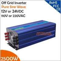 2500 W fuera de la red inversor solar o inversor del viento, energía de la oleada 5000 W 12 V/24VDC 110VAC o 220VAC inversor de onda sinusoidal pura