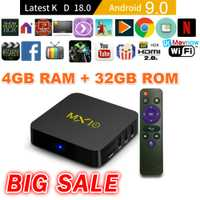TTVBOX MX 10 Android TV Box 4 GB 32 GB último KD 18,0 Android 9,0 caja de TV RK3328 Quad Core 4 K HDR eMMC 2,4 GHz WIFI USB 3,0 Smart TV