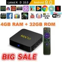 TTVBOX MX 10 Android TV Box 4 GB 32 GB último KD 18,0 Android 9,0 caja de TV RK3328 Quad Core 4 K HDR eMMC 2,4 GHz WIFI USB 3,0 Smart TV