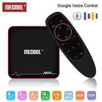Mecool M8S PRO W caja de TV S905W Control de voz Set Top Box 2,4G Smart TV Box Android 7,1 4 k Android TV Box 4 k media player