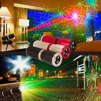 Láseres Ox 5 V recargable sonido activo láser proyector de iluminación de escenario con Bluetooth MINI altavoz de discoteca DJ láser