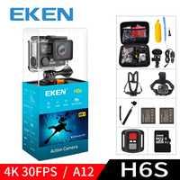 EKEN H6S A12 Ultra 4 K 30FPS Cámara de Acción Wifi 30 M impermeable 1080 p ir EIS estabilización de imagen HD cámara deportiva 2 K 14MP pro