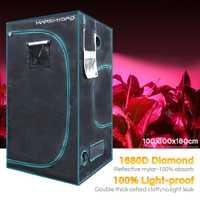 1680D Marshydro hidropónico de interior crece la tienda 100*100*180 cm crecer kit completamente interior LED sistema de cultivo