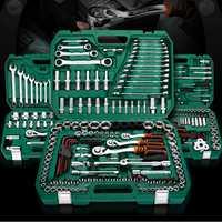 121 piezas 150 piezas herramientas de reparación de automóviles herramientas mecánicas conjunto de herramientas de llave de enchufe para juego de zócalo de destornillador de trinquete automático llave hexagonal