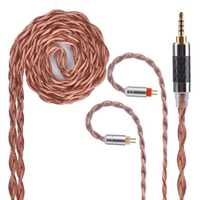Yinyoo 4 núcleo de aleación de cobre puro actualizado Cable 2,5/3,5/4,4mm equilibrado Cable con MMCX/ 2pin conector para KZ ZS10 ZST ZS6