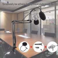 Micrófono de condensador profesional BM-800 cardioide de Audio profesional estudio de grabación de voz micrófono grabación de sonido micrófono con soporte