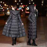 De moda chaqueta de abrigo de las mujeres con capucha caliente Parkas Bio pelusa Parka abrigo negro de alta calidad mujer nueva colección de invierno caliente
