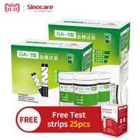 [Regalo gratis 25 tiras de prueba] Sinocare Tiras reactivas de glucosa en sangre de 150 piezas (para GA-3)