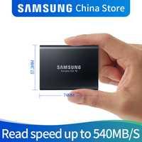 Samsung T5 portable ssd disco duro ssd 2 to 1 to 500GB 250GB externe à semi-conducteurs USB3.1Gen2 et rétrocompatible pour PC