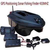 Automático GPS de navegación de barco de cebo con Sonar buscador de peces TL-380E 433 MHz de retorno automático GPS cebo barco 12 nido