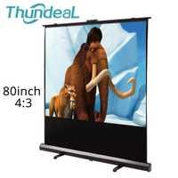 ThundeaL 80 pulgadas 100 pulgadas 4:3 pantalla de proyección piso Up Home Theater oficina al aire libre blanco Pull Up soporte plegable proyección pantalla