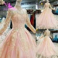 Vestido de baile AIJINGYU vestido de boda ruso vestidos blancos vestidos de tren talla grande para novia vestido de boda de encaje occidental 2018