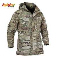 Los hombres táctico chaqueta nueva 2018 primavera otoño ejército M65 campo militar chaqueta abrigos con capucha Casaco Masculino chaqueta