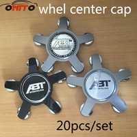 Venta caliente 20 Unid 135mm ABT SPORTSLINE de rueda de coche Centro tapas de cubo emblema para Audi 135mm de rueda de coche tapas