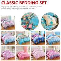 Funda de edredón suave ropa de cama de flores ropa de cama clásica juego de edredón gris funda de edredón juego de cama Pastoral cómoda edredón