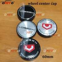 100 Uds. tapa central piezas de la rueda 4 colores 56mm 60mm para vossen rueda Centro casquillo insignia emblema coche estilismo neumático accesorios vossen