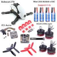 Robocat 270 QAV250 QAV-R 220mm QAV-X 214 Nova 235mm F3 Acro controlador de vuelo RS2205 2300kv 3-4 s motor 20A BLHeli-s CES 5045