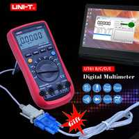 UNI-T UT61E multímetro Digital Auto rango True RMS UT61A/B/C/D retención de datos Diode prueba buzzer continuidad Multimetro + regalo