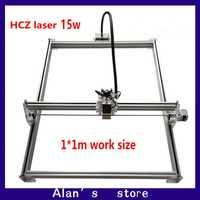Máquina de grabado de metal láser de gran potencia de 15 W DIY, máquina de corte por láser CNC 1 * m máquina de grabado láser, máquina de marcado