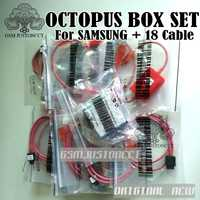 100% 2018 Original NEW Octopus Box/OCTOPLUS BOX para SAMSUNG Edition con 18 cables para SAMSUN/Unlock & Flash & Repair teléfono móvil