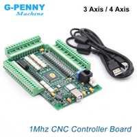 MACH3 4 eje/3 Axis USB control de movimiento tarjeta de Control de interfaz 1 MHz CNC controlador Junta paso a paso/Servo motor
